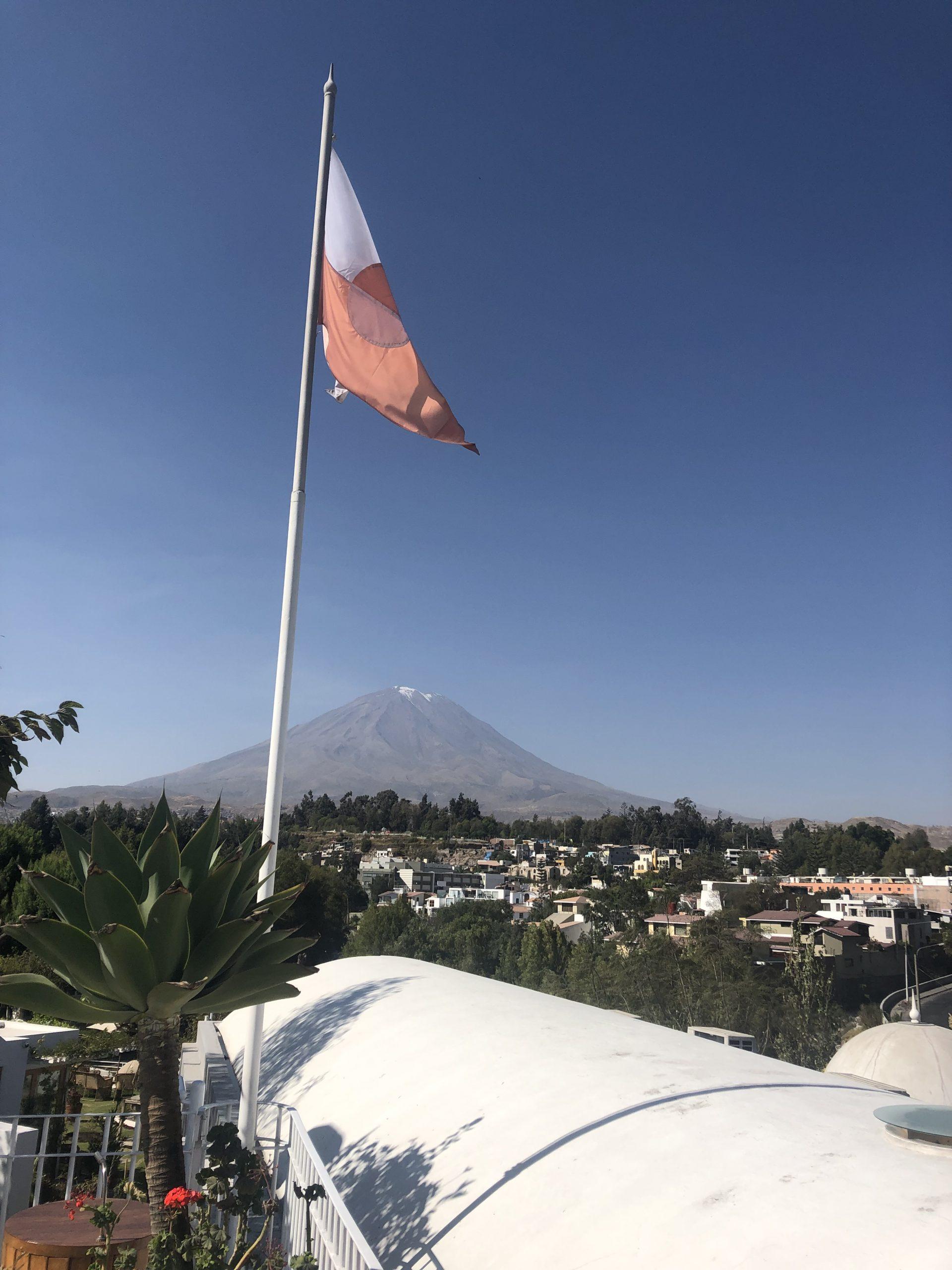 Vista sul vulcano Misti